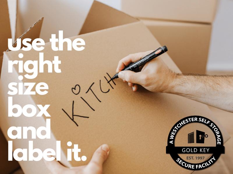 Storage Tips Peekskill Use The Right Sized Box